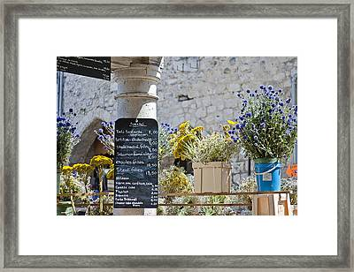 Lunch Time On Market Day Framed Print