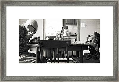 Lunch Together Framed Print by Gwyn Newcombe