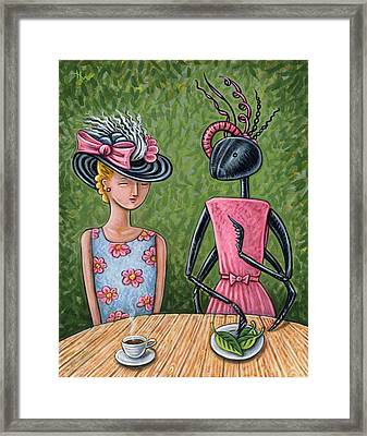 Lunch With A Favorite Ant Framed Print by Holly Wood