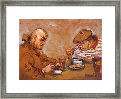 Lunchtime At Tim  Framed Print by Ylli Haruni