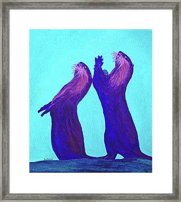 Framed Print featuring the painting Lunchtime by Margaret Saheed