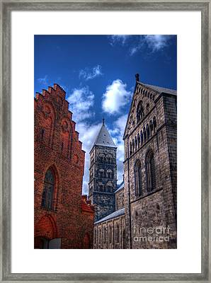Lund Cathedral Hdr 02 Framed Print by Antony McAulay