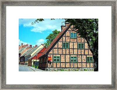 Lund Old Building 02 Framed Print by Antony McAulay
