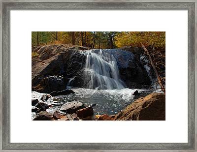 Framed Print featuring the photograph Lundy Creek Cascades by Lynn Bauer