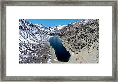 Lundy Lake Framed Print by David Levy