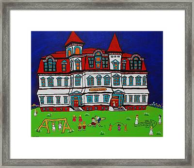 Lunenburg Academy Framed Print by Holly Everett