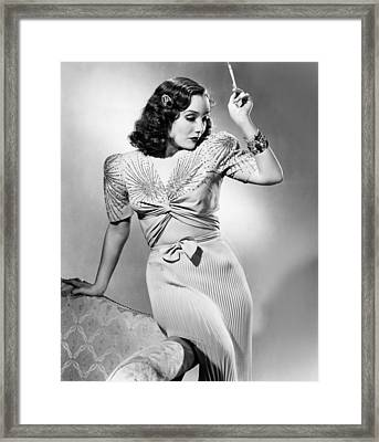 Lupe Velez, Modeling Two-piece Blue Framed Print by Everett