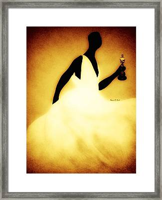Lupitagoldenchic Framed Print by Romaine Head