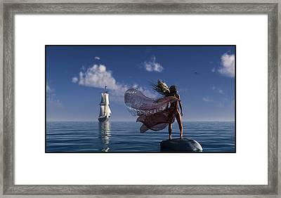 Lure Of The Siren... Framed Print