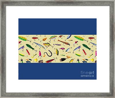 Lures Pillow Sham And Square Framed Print