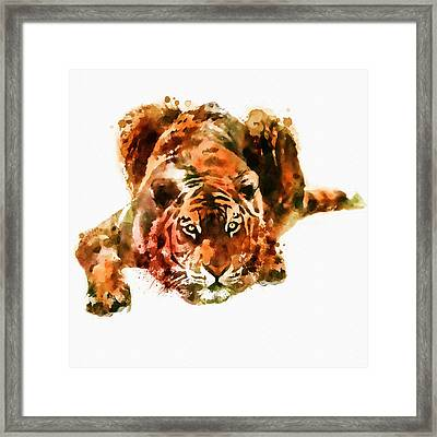 Lurking Tiger Framed Print by Marian Voicu