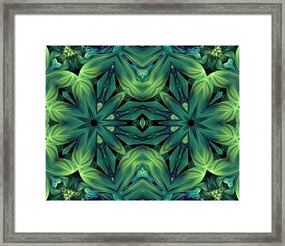 Luscious Greenery Framed Print by Georgiana Romanovna