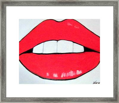 Framed Print featuring the painting Luscious Lips by Nora Shepley
