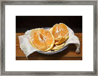 Lush Orange Framed Print