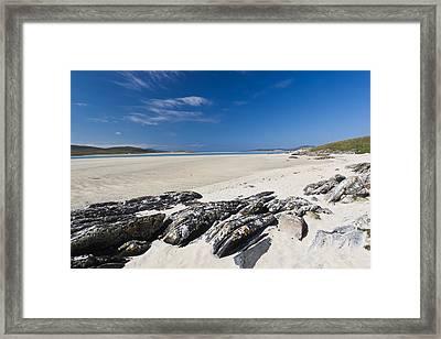 Luskentyre Beach Framed Print by Luca Quadrio