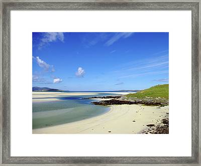 Framed Print featuring the photograph Luskentyre Paradise by Jacqi Elmslie