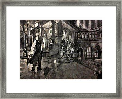 Lust In The Temple Framed Print