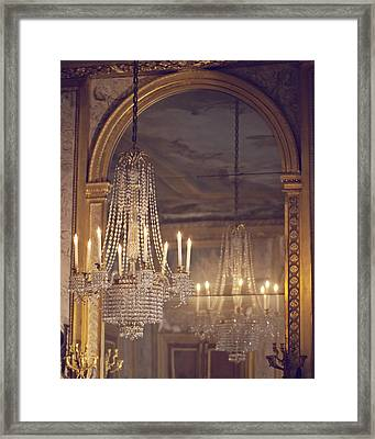 Lustre De Fontainebleau - Paris Chandelier Framed Print