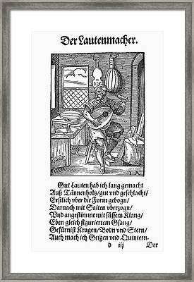 Lute Maker, 1568 Framed Print by Granger