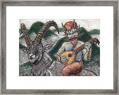 Lute Framed Print