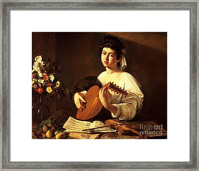 Lute Player Framed Print by Celestial Images
