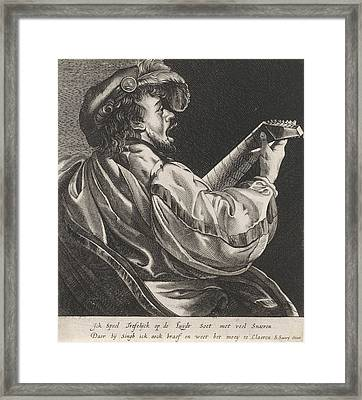 Lute Playing Man, Hendrick Ter Brugghen, Salomon Savery Framed Print by Artokoloro