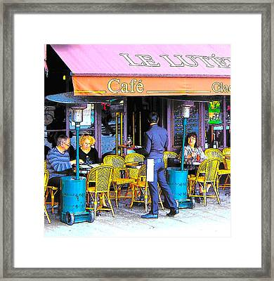 Cafe Lutetia Ile Saint Louis Paris Framed Print by Jan Matson