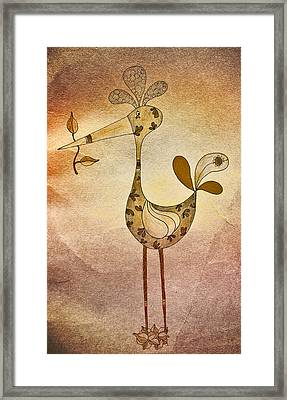 Lutgarde's Bird - 05t2c Framed Print by Variance Collections