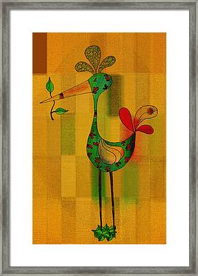 Lutgarde's Bird - 061109106-wyel Framed Print by Variance Collections