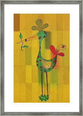 Lutgarde's Bird - 061109106y Framed Print by Variance Collections