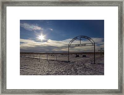 Luther Gemeinde Cemetery Framed Print