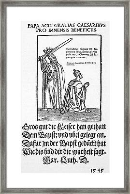 Luther Satire, 1545 Framed Print by Granger