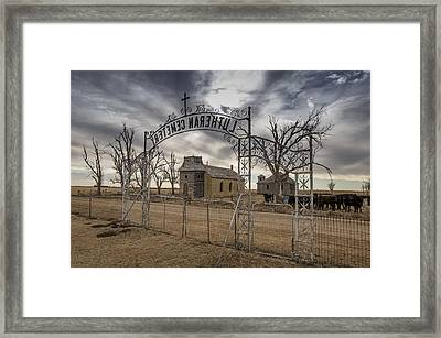 Lutheran Cemetery Entrance Framed Print by Chris Harris