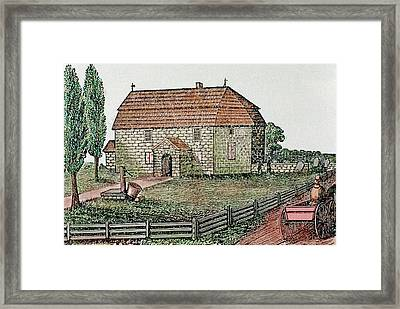 Lutheran Church Built In 1743 Trappe Framed Print