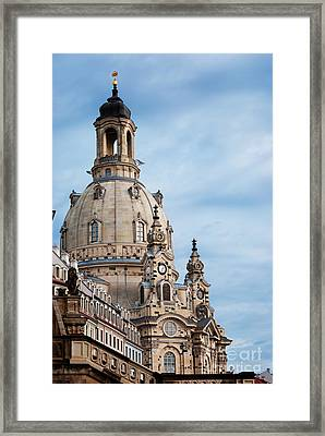 Lutheran Church In Dresden Framed Print by Jelena Jovanovic