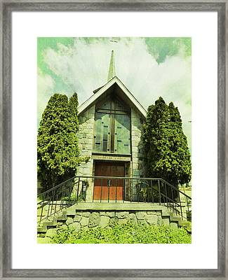 Framed Print featuring the photograph Lutheran Church by Laurie Tsemak