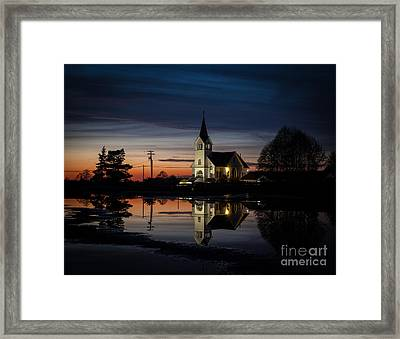 Lutheran Sunset Framed Print by Mike Reid