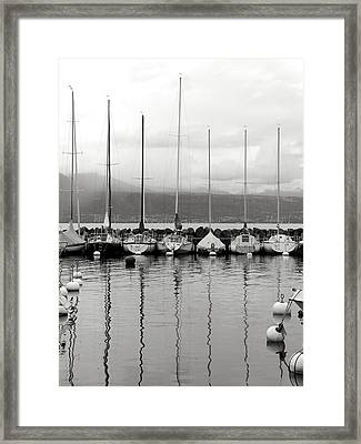 Lutry Port Framed Print