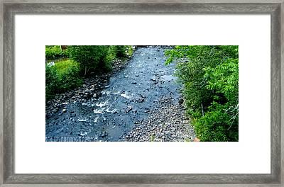 Lutsen River Framed Print by Meghan Ziegel