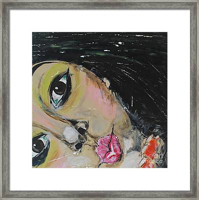 Framed Print featuring the painting Luuli by Lucy Matta