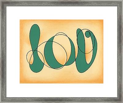 Luv Framed Print