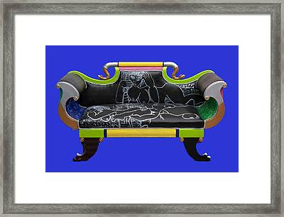 Luv Seat Framed Print