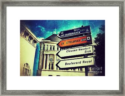 Framed Print featuring the photograph Luxembourg City by Nick  Biemans