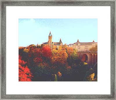 Luxembourg City Skyline Framed Print