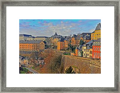 Luxembourg Fortification Framed Print