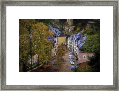 Framed Print featuring the photograph Luxembourg - Grund by Maciej Markiewicz