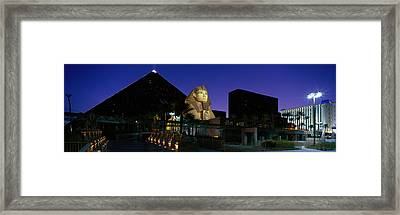 Luxor Hotel Las Vegas Nevada Usa Framed Print by Panoramic Images