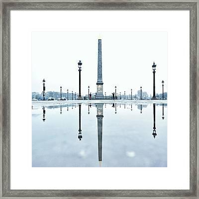 Luxor Obelisk On The Place De La Framed Print by Gerard Trang / Eyeem