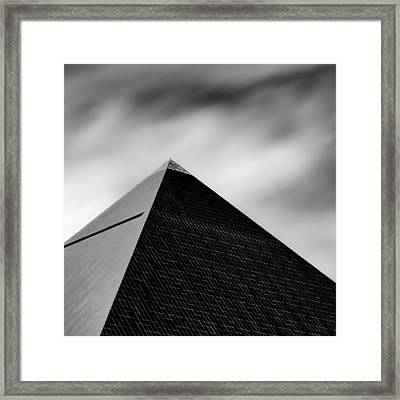 Luxor Pyramid Framed Print by Dave Bowman