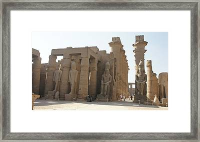 Luxor Temple Framed Print